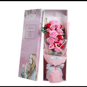 水彩画玫瑰香皂花