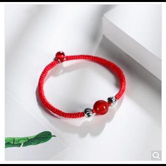 编织红玛瑙手串
